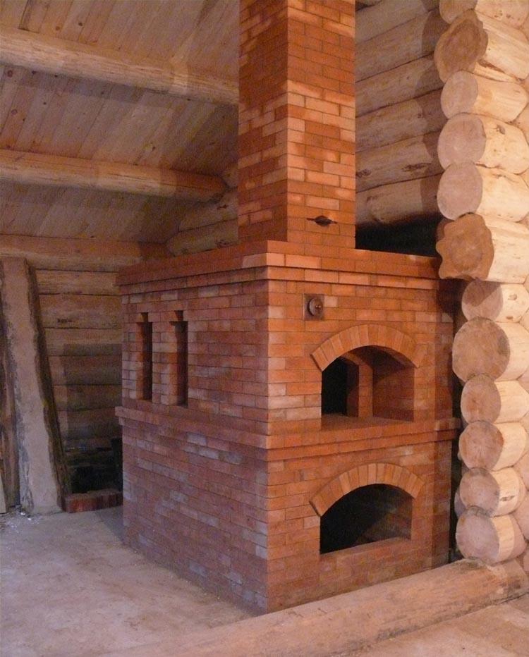 русская печь в доме фото