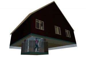 Подвал (погреб) в деревянном доме
