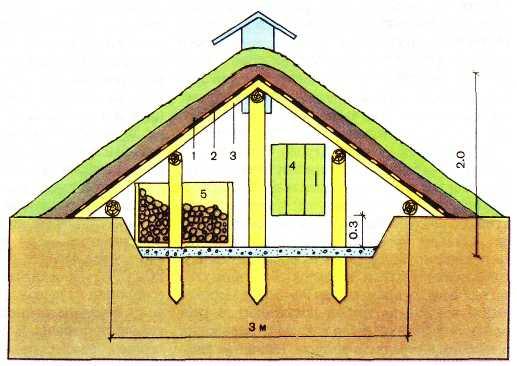 Построить овощехранилище своими руками