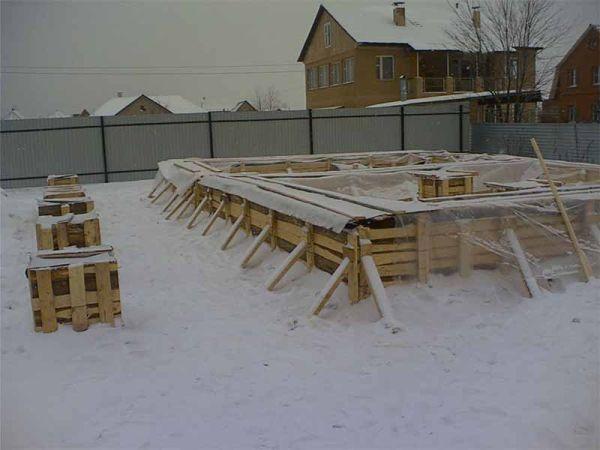 Картинки фундамента зимой